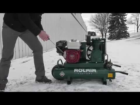Cold Weather Starting Procedure - Gas-Powered ROLAIR Air Compressors