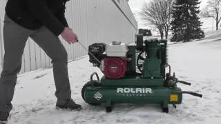 cold weather starting procedure gas powered rolair air compressors