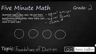2nd Grade Math Foundations of Division