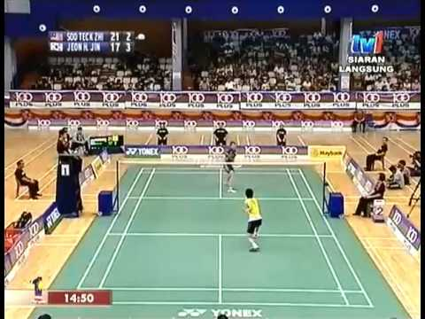 2013 Badminton Asia Youth U19 Championships MSF Soo Teck Zhi (Malaysia) VS Jeon Hyuk Jin (Korea)