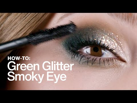 HOW TO: Green Glitter Smoky Eye   MAC Cosmetics