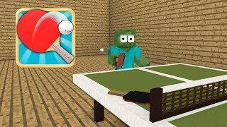 Monster School : Table Tennis - Minecraft Animation