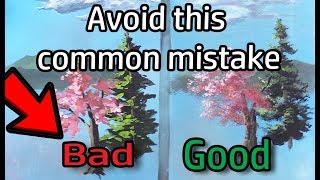 Avoid this COMMON MISTAKE | Acrylic Painting
