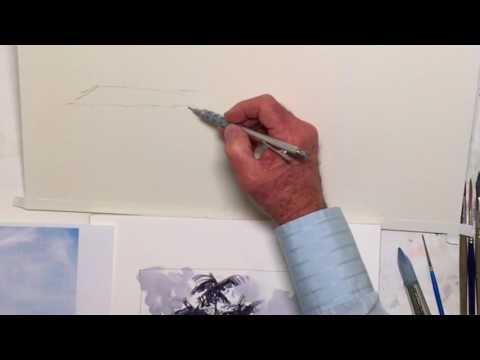 Construction Lines: An Architectural Watercolor Sketch