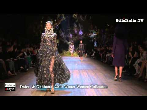 """Italian Fashion"" - ""Dolce & Gabbana"" -  2014 Winter Women - ""Milan Fashion Week"""
