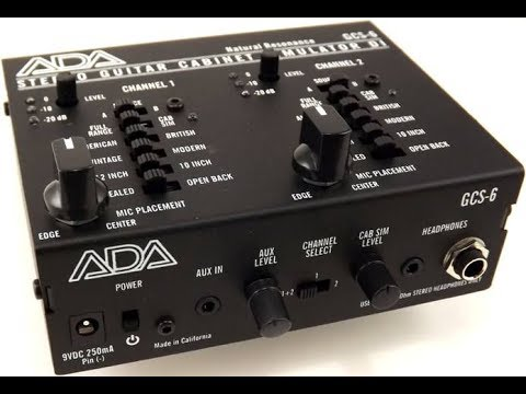 ADA GCS-6 Stereo Guitar Cabinet Simulator - Demo by Simon Gotthelf