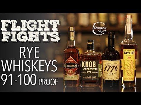 Best Rye Whiskey 91-100 Proof? (Blind Flight Fight)