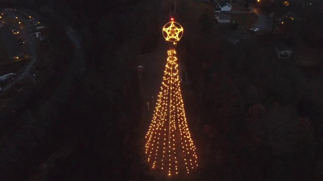 Christmas Tree Hill Richlands Virginia Youtube