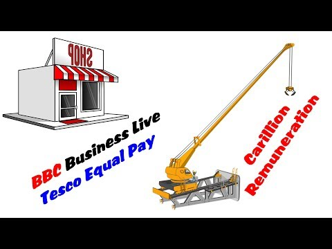 BBC Business Live Tesco Equal Pay in Dollars / Carillion Remuneration Committee