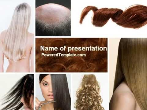 hairstyle powerpoint template by poweredtemplate com youtube