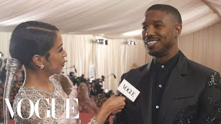 Michael B. Jordan on Running Rampant Inside the Met Gala | Met Gala 2019 With Liza Koshy | Vogue