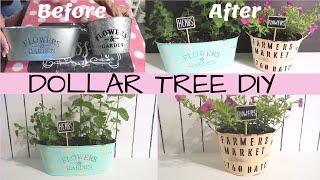 DOLLAR TREE DIY | FARMHOUSE PLANTERS 🌻