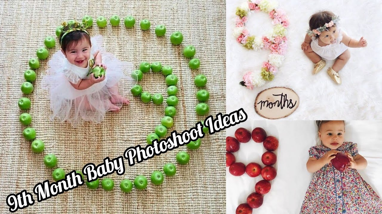 9 Month Baby Photoshoot Ideas Monthly Baby Photoshoot Ideas Creative Babyphotoshoot Youtube