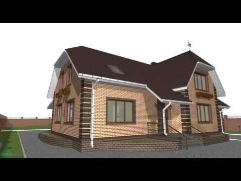 Проект дома с мансардой и гаражом «Удобный»  E-078-ТП