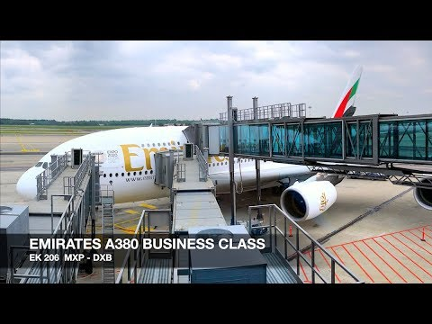 TRIP REPORT | Emirates A380 BUSINESS CLASS | Milan MXP ✈ Dubai DXB