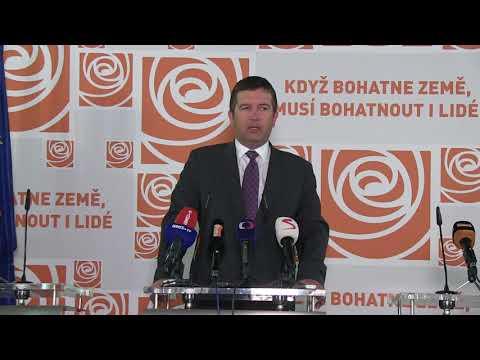 Záznam tiskové konference: Předsednictvo ČSSD schválilo čtyři kandidáty pro senátní volby