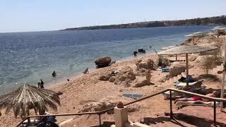 Обзор песчаного захода пляжа при отеле Лабранда Тауер Отели Шарма 2021