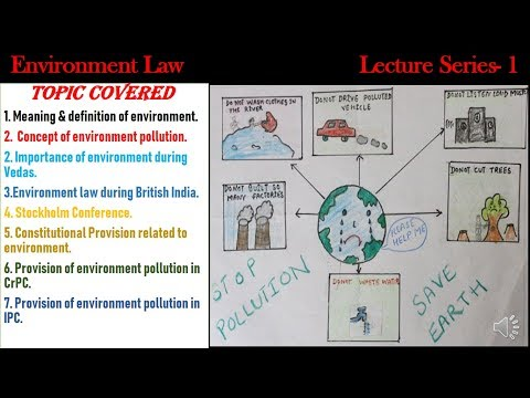 Environment Protection Act 1986 | Environment law | IPC & CrPC provison on environemnt law |