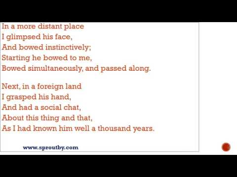I knew a man by sight famous friendship poems by henry david thoreau