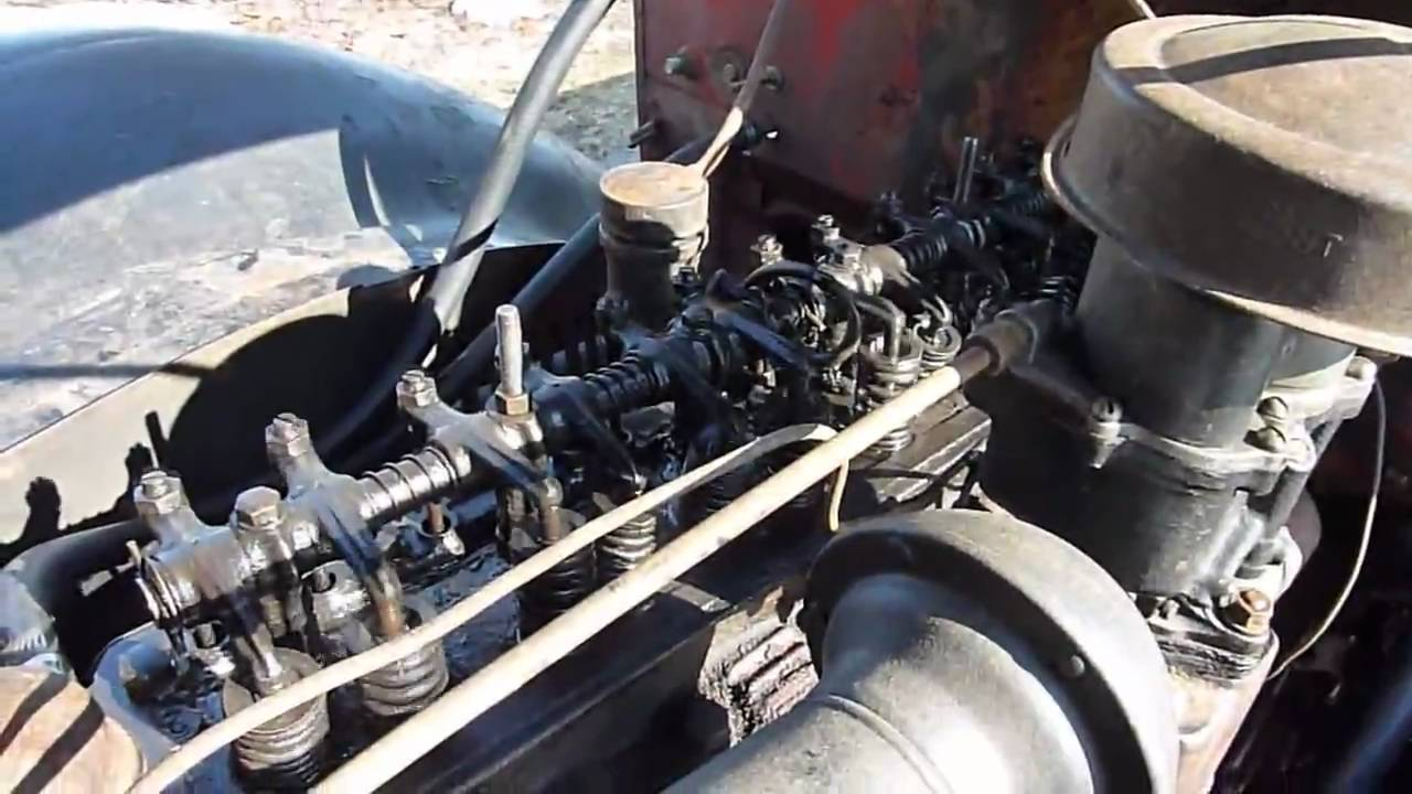 1938 Chevy half ton pickup gets new valve cover gasket - YouTube