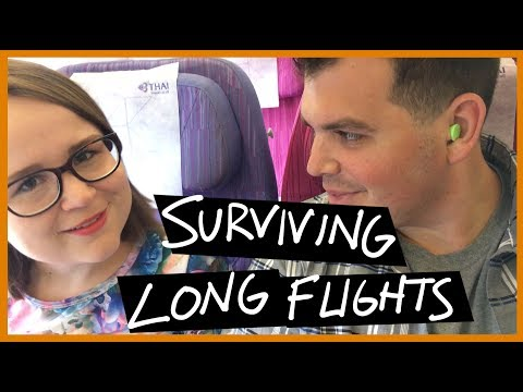 ✈️ HOW TO SURVIVE LONG FLIGHTS  // Tips for International Travel