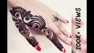 unique and beautiful finger henna design