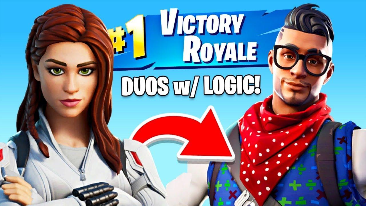 Winning in Duos w/ Logic! (Fortnite, PG-13)