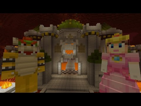 Minecraft Wii U - Super Mario Series - Peach in Bowser's Castle [4]