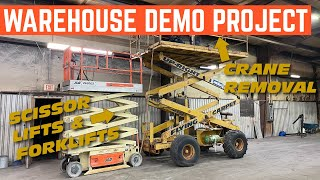 We DEMOLISHED Tons Of My NEW Automotive Shop *Why I Needed A Forklift*