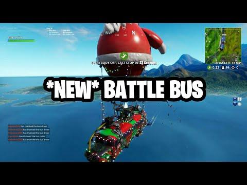 New Christmas Battle Bus Fortnite Battle Royale Youtube