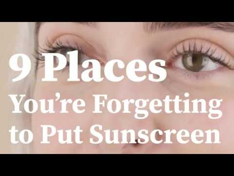 9 Places People Forget to Apply Sunscreen