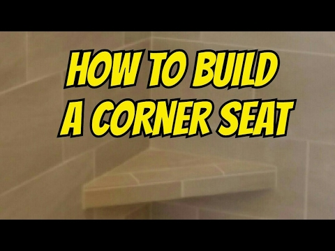 How To Build A Seat In Tile Shower Using Kerdi Board