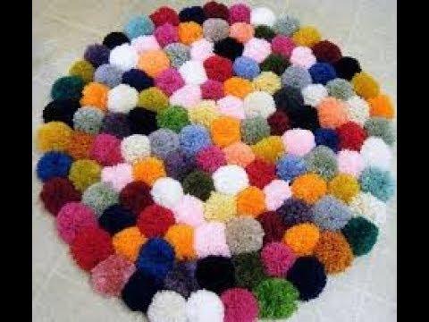 how to make pom pom mats
