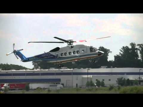 China Southern Airline Sikorsky helicopter test at Chester County plant Carlson G.O. airport.