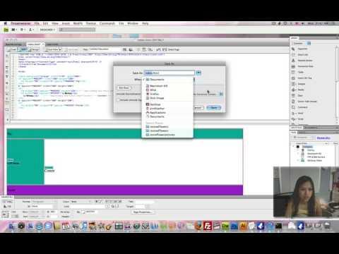 dreamweaver creating template part 1 youtube