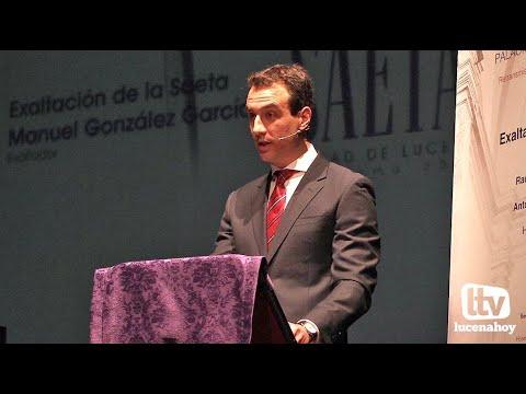 VÍDEO: Exaltación de la Saeta Ciudad de Lucena (2): Presentación y Exaltación de Manolo González