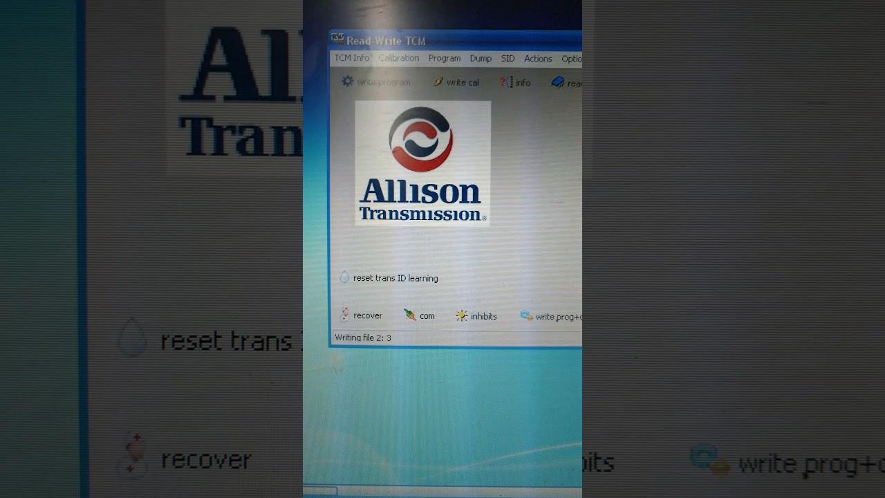Reflash TCM Allison offline