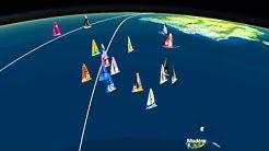 Cartographie 3D : Classement Jour 4, 9H00 - Vendée Globe 2012 2013