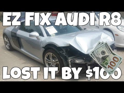 Download Youtube: I Lost this Salvage Audi R8 by ONLY $100! Why I stopped bidding *HUGE MISTAKE*