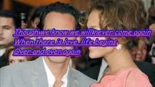 Marc Anthony - I want to spend my lifetime loving you (Lyrics)