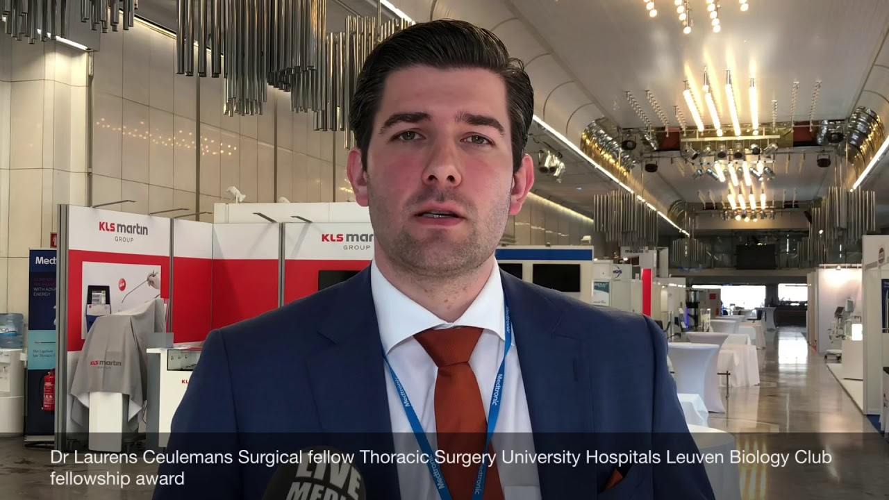 Dr Laurens Ceulemans, Surgical fellow Thoracic Surgery University Hospitals  Leuven