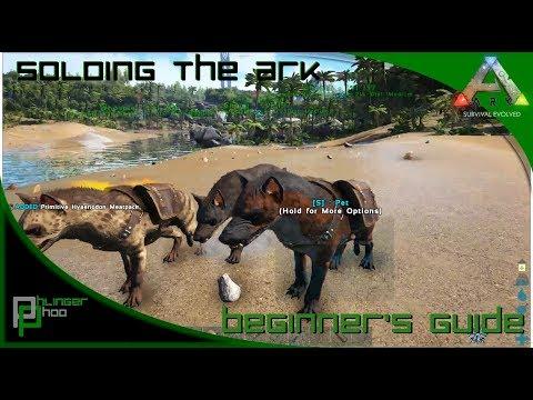 Soloing the Ark S4E12! Taming Pen for Hyaenodons! Hyaenodon Pack!
