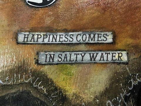Salty Water..Art Journal Page.. Foto Transfer..Ancora