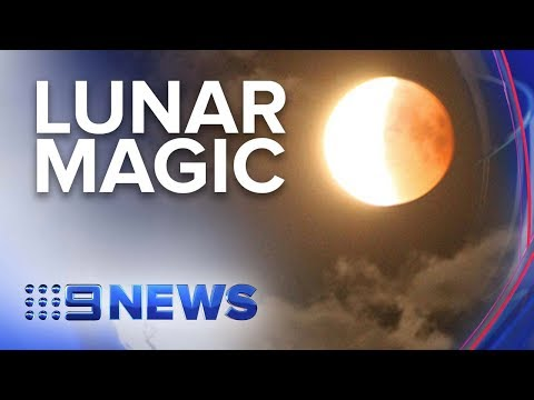 Partial Lunar Eclipse Coincides With 50th Anniversary Of Apollo 11 Mission | Nine News Australia