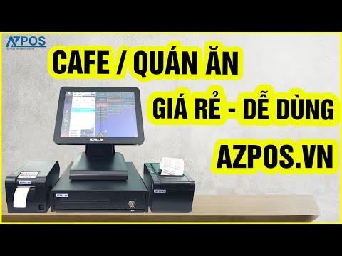 [AZPOS.VN] Máy Tính Tiền Cảm Ứng Quán Cafe Azpos Trọn Bộ Giá Tốt
