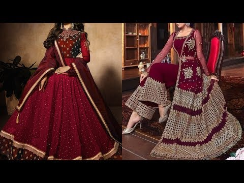 Very Beautiful Maroon Color Dresses/casual & Party Wear Maroon Dresses With Stitching Styles