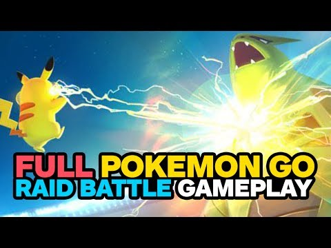 Pokemon Go: Raid Battle Gameplay and Boss Capture