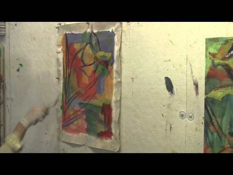 Margaret Zox Brown Art Video Tutorial #10, PAINTING ON THE ALREADY PREPARED CANVAS