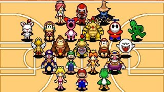 Mario Hoops 3 on 3 - All Characters