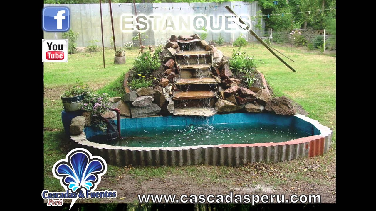 Cascadas artificiales piletas muro lloron panel de for Cascadas artificiales de agua para piscinas
